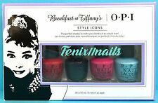 OPI BREAKFAST AT TIFFANY'S 4pc Mini Nail Polish Set~ reds rich apartment believe