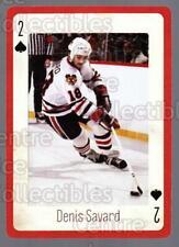 2005 Chicago Blackhawks Legends Playing Card #2 Denis Savard