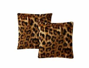 "Morgan Home Printed Plush 18"" Decorative Pillow 2-Pack-Jungle Leopard T4102199"