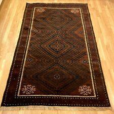 Vintage Rug 3' 10 x 6' 4 Brown Tribal Oriental Rug