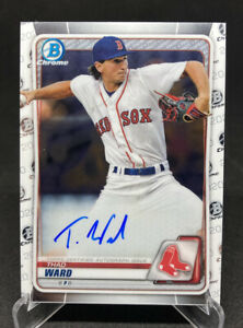 2020 Topps Bowman Thad Ward Rookie Prospect Chrome Autographs Boston Red Sox