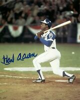 Hank Aaron Autographed Signed 8x10 Photo ( HOF Braves ) REPRINT .
