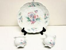 AYNSLEY ENGLAND  LITTLE SWEETHEART FINE BONE CHINA CAKE PLATE SUGAR CREAMER VINT