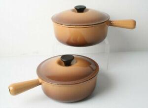 Set Of Le Crueset Pans Size 20 & 22 In Brown