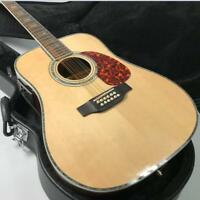 Top Quality 12 Strings Electric Acoustic Guitar Solid Spruce Fishman EQ D Style