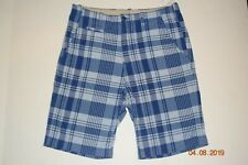 Gap Kids Boy's Blue Plaid Shorts --- Size 16 Husky -- Brand New