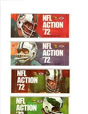 (4) Sealed Packs of 1972 Sunoco Football Stamps (9 Stamps per Pack)