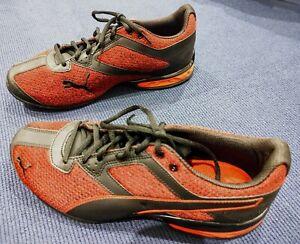 PUMA TAZON 6 Knit Sneaker Black Red Toreador Men's US 10