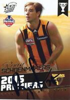 ✺Signed✺ 2015 HAWTHORN HAWKS AFL Premiers Card RYAN SCHOENMAKERS