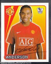 Merlin Football- 2008 Premier League Sticker No 382 - Anderson - Man Utd
