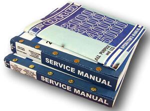 LOT FORD 2000 5000 SERIES TRACTOR SERVICE REPAIR SHOP & OPERATORS OWNERS MANUALS
