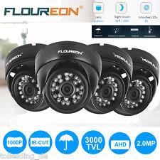 4*Outdoor 3000TVL HD 1080P CCTV Camera Dome AHD DVR Home Sercurity Surveillance