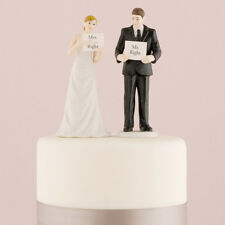 Read My Sign - Bride and Groom Wedding Cake Topper Funny Custom
