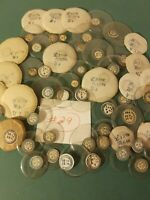 Lot 50 Vtg Round Glass Watch  Pocket Watch Crystals Round Variety Sizes New #29