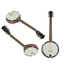 New High Quality Wood Alloy 6-string White and Dark Golden Banjo Top Grade