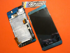 DISPLAY LCD+TOUCH SCREEN per HTC ONE M7 801N CORNICE COVER NERO VETRO NUOV FRAME