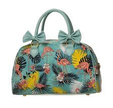 Banned Wanderlust Flamingo Tropical Tiki Vintage Bag 50s Rockabilly Bows Handbag