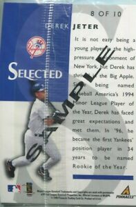 Derek Jeter 1998 Pinnacle Select Selected SAMPLE sealed promo pack Rare