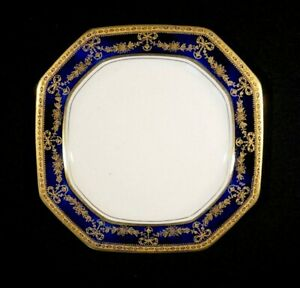 Beautiful Early Alfred Meakin Bleu De Roi Eight Sided Sweets Plate