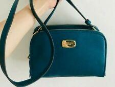 Michael Kors MK Reese Medium Teal/blue Leather Messenger bag 3 compartments