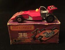 MATCHBOX Superfast Lesney Texaco Champion No. 36 Formula 5000 With Racer  MIB