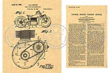 INDIAN MOTORCYCLE Cycle Shaft PATENT Art Print ~ George B. Weaver 1943 PM#964
