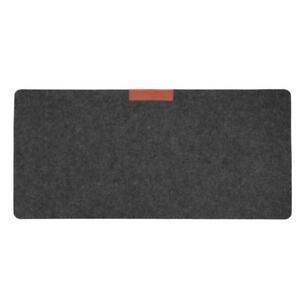 Office Computer Desk Table Keyboard Mouse Pad Felt Laptop Mat (Grey)