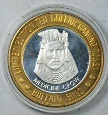 .999 Pure Silver Coin Chief Medicine Crow Casino $10 token
