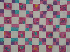 Unfinished Quilt Top - Nine Patch, Pink & Turquoise Babies, approx 40x 47.5