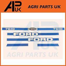 Ford New Holland 7610 Tractor Hood Bonnet Decal Sticker Set Kit Emblem Transfers