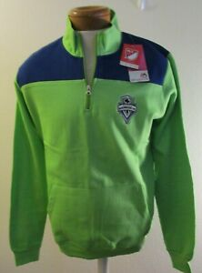 NWT Majestic Seattle Sounders FC Womens Plus Size 1/4-Zip Pullover Jacket 1X $55