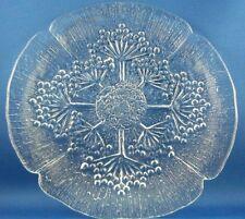 Vintage DANSK Italy FLORIFORM (1) ART GLASS Cake / Bread Plate Collectable Aus
