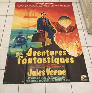 Affiche De Cinema 120x160 AVENTURES FANTASTIQUE DE JULES VERNE Imp Saint Martin