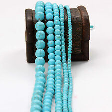Wholesale 20-100Pcs Howlite Turquoise Gem Round Loose Beads Jewelry 4/6/8/10mm