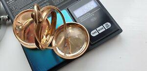 9ct scrap gold full hunter watch case.