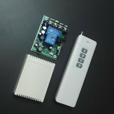 RF Remote Control Switch AC 110V 220V Far Distance High Power 30A Wireless Relay