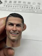 1:6 Scale Cristiano Ronaldo Smile Face Head Sculpt Fit 12'' Action Figure