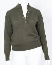 DAVID LAWERENCE Womens Size 10 Olive Green Designer Wool Knit Vintage Top Jumper
