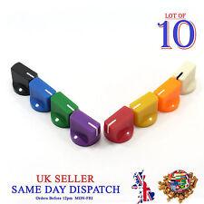 10x 6mm Big Push on Knob for Potentiometer Plastic Cap Different Colors 14mm