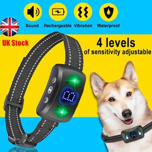 Auto Electric Pet Dog Training Collar  Anti-Bark Electronic Rechargeable UK