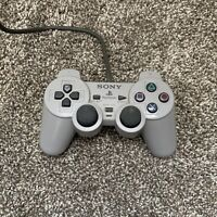 Sony SCPH-1200 Wired Controller - Gray - OEM DUAL SHOCK PLAYSTATION 1 CONTROLLER