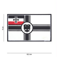 Patch 3D PVC  German empire flag   hook and loop airsoft WWI