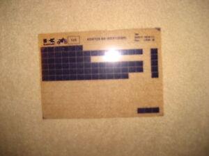Kawasaki KDX 125 - B6, Catalogo Ricambi,Microfiche,Microfilm,Microfilm