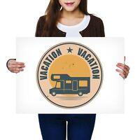 A2 - Camper Van Bus Motorhome Camping Poster 59.4X42cm280gsm #7380