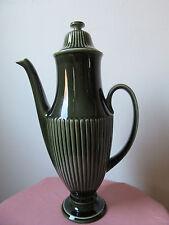 Carltonware Coffee set, no. 2808. Dark green ribbed.