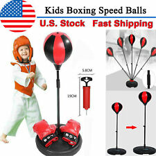 Hot Kids Punching Ball Bag Boxing Punch Exercise Sports Set Gift With Gloves New