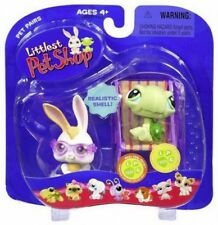 Pet Pairs Bunny & Baby Turtle Figure 2-Pack [Sunglasses & Beach Chair]