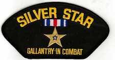 Silver Star Gallentry HMC Black Hat Patch