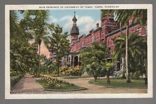 [49779] 1938 POSTCARD UNIVERSITY OF TAMPA MAIN ENTRANCE in TAMPA, FLORIDA