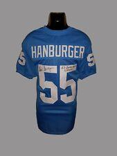 UNC Tar Heels, Chris Hanburger signed custom jersey w/JSA & Inscription